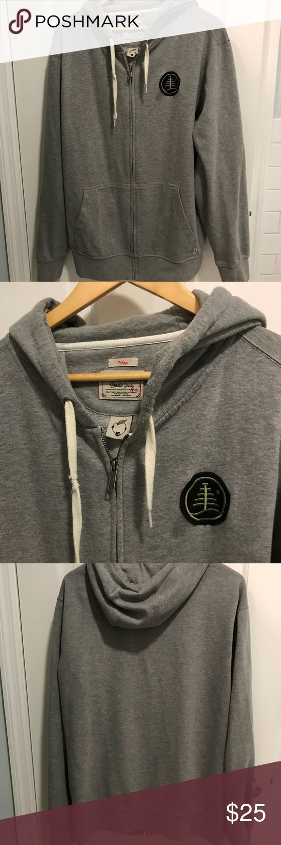 Burton men's hoodie Gray men's Burton hoodie with logo patch Burton Shirts Sweatshirts & Hoodies