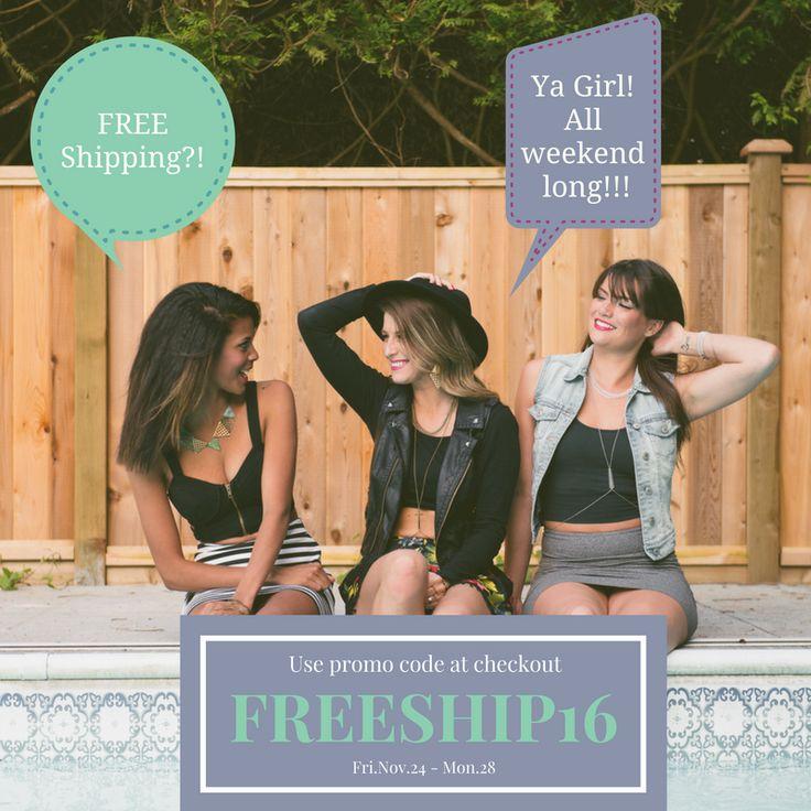 "FREE SHIPPING - Use coupon code ""FREESHIP16"" at checkout. #blackfridaysale #cybermonday #sale"