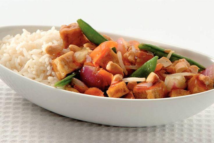 Kijk wat een lekker recept ik heb gevonden op Allerhande! Krokante tofu met…