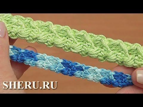 Вязание крючком шнура гусенички Урок 99 Crochet Romanian Point Lace Cord - YouTube