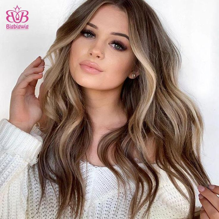 Honey Middle Long Wave Fashion Wig