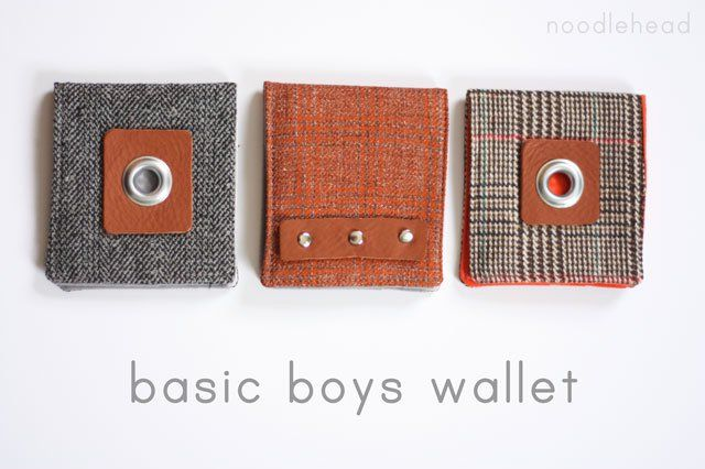 celebrate the boy tutorial: basic boys wallet - Noodlehead