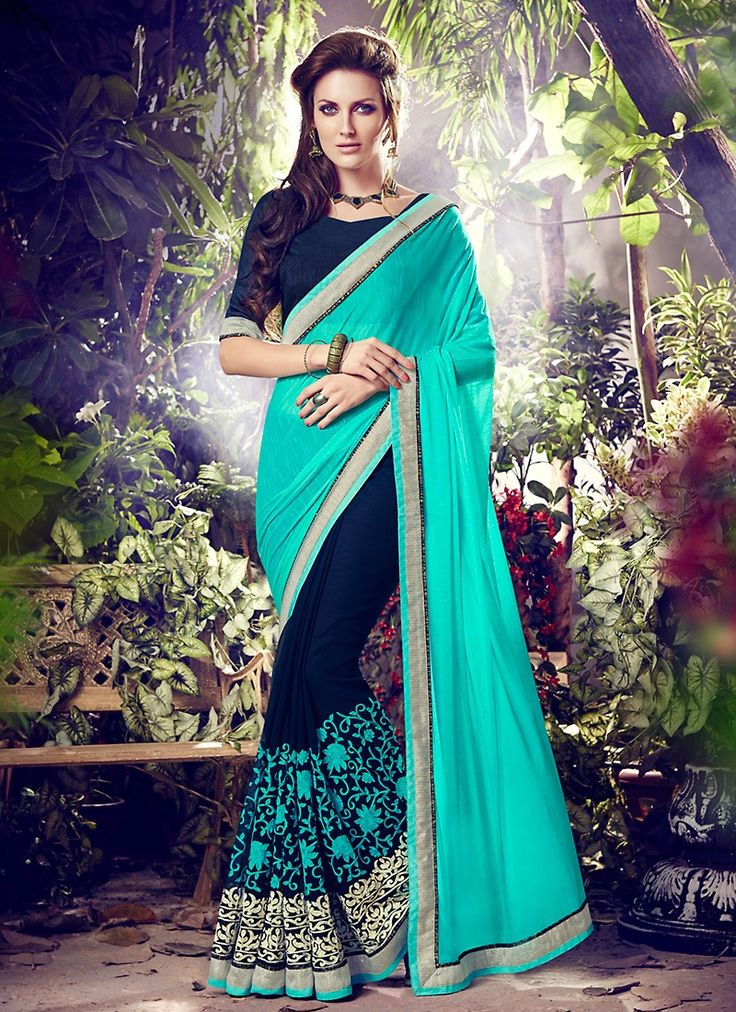 This Navy Blue Lycra Saree is adding the desirable glamorous showing the feel of…
