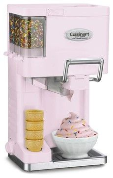 Cuisinart ICE-45PK Pink Mix It In Soft Serve Ice Cream Maker contemporary-originals-and-limited-editions