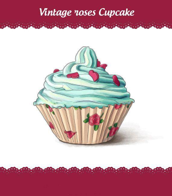 rose cupcake cupcake art cupcake tattoo designs cupcake drawing ...