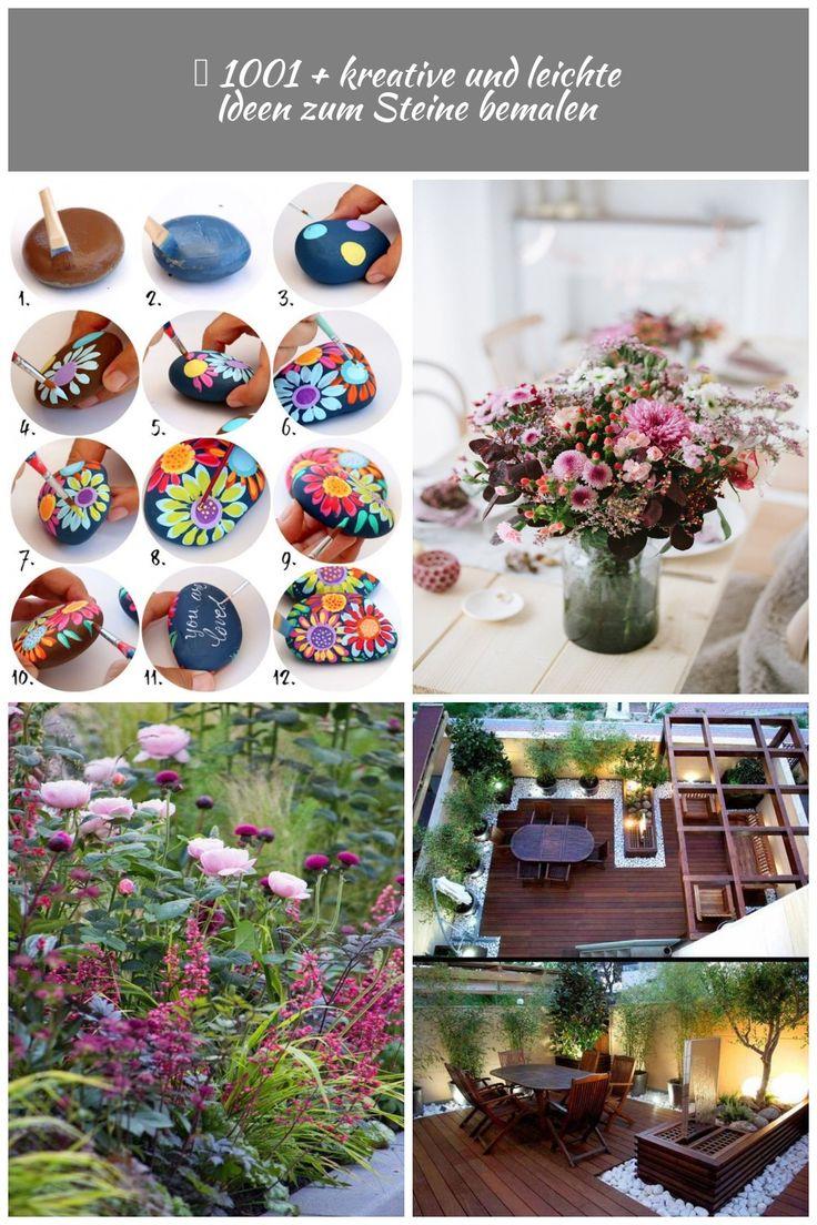 Steine selbst vertieren, DIY Anleitung in zwölf Schritten, bunte Blumen zeichne …  – chocolat