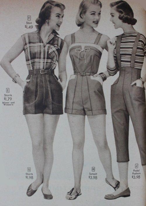 5fa201d0e8 40s-50s Vintage Playsuits