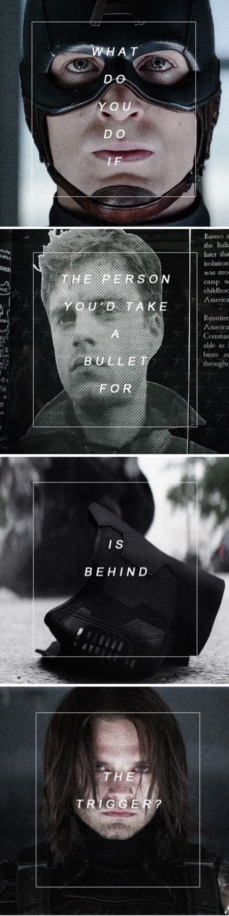 What do you do if the person you'd take a bullet for is behind the trigger?