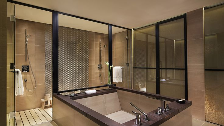 Bathroom at The Ritz-Carlton Suite - The Ritz-Carlton, Kyoto - Japan & Luxury Travel Advisor – luxurytraveltojapan.com - #Luxuryhotels #Kyoto #Japan #Japantravel #ritz-carlton