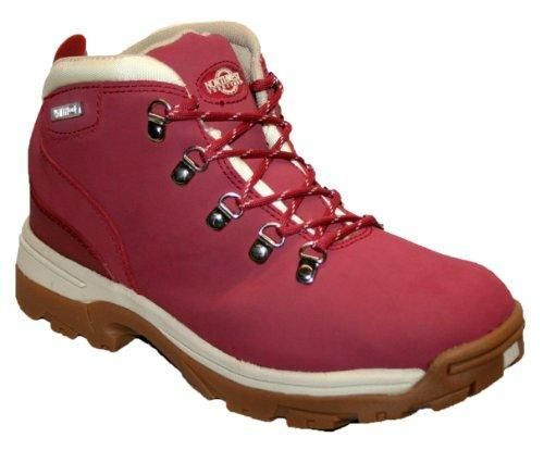 Oferta: 40.39€. Comprar Ofertas de Botas de piel para mujer, ligeras, impermeables, ideales para caminar, senderismo o excursionismo, color rojo, talla 37 1/3 barato. ¡Mira las ofertas!
