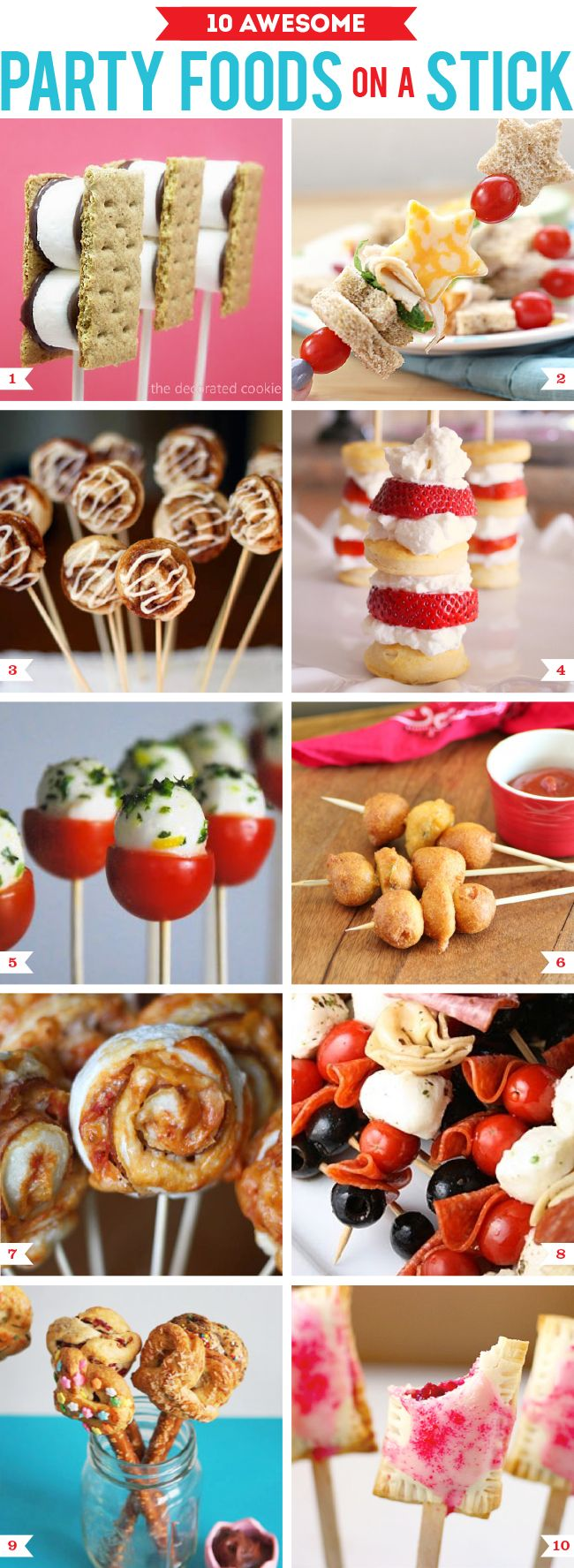 10 awesome party foods on a stick