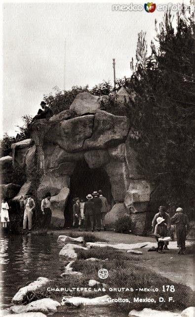 Chapultepec, Las Grutas, ca. 1920. Actualmente clausuradas.
