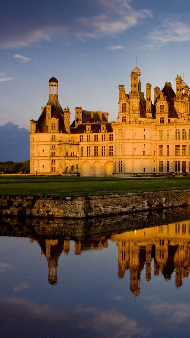 The royal Chambord Castle - French Renaissance architecture, Loire Valley, France