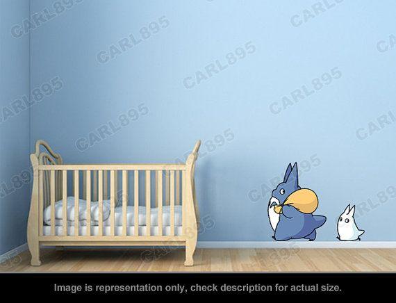 Totoro Inspired  Totoro Chu / Totoro Chibi Wall Art di carl895
