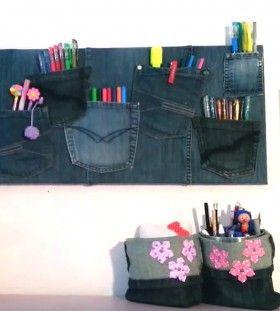 Veggholder av jeans