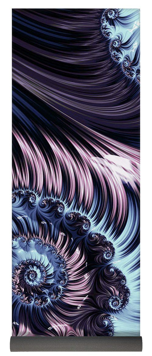 Abstract Yoga Mat featuring the digital art Purple Spiral Abstracts by Oksana Ariskina. Pale and blue spiral abstract fractal flower pattern background. Available as poster, greeting card, phone case, throw pillow, framed fine art print, metal, acrylic or canvas print with my fine art photography online: www.oksana-ariskina.pixels.com  #OksanaAriskina #Artworks #FineArtPhotography #HomeDecor #FineArtPrints #FineArtAbstract  #AbstractBackgrunds #ArtForSale    #Abstract #Fractal