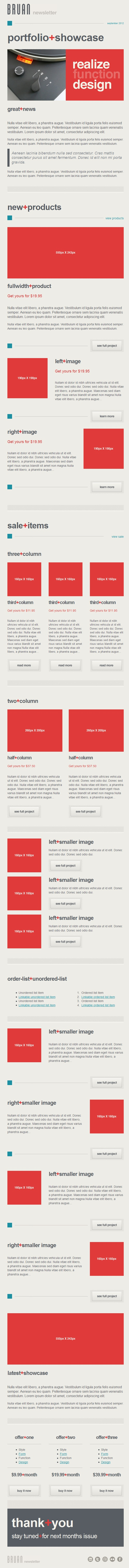 Beautiful Email Newsletters » Blog Archive » BRUAN