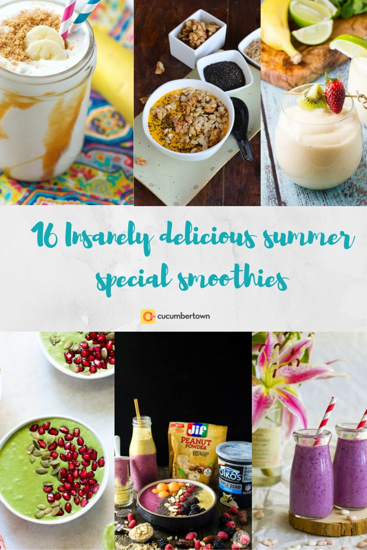 16 Insanely Delicious Summer Special Smoothies — Cucumbertown Magazine