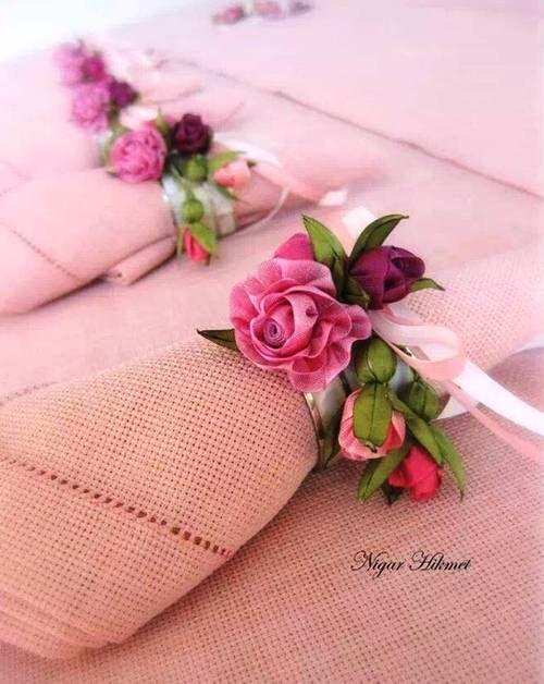 .lovely napkin fold