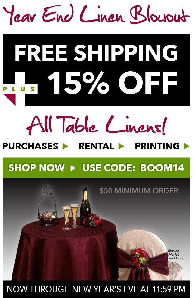Bright Settings Year End Blowout U2014 FREE Shipping And 15% Off On All Table  Linen