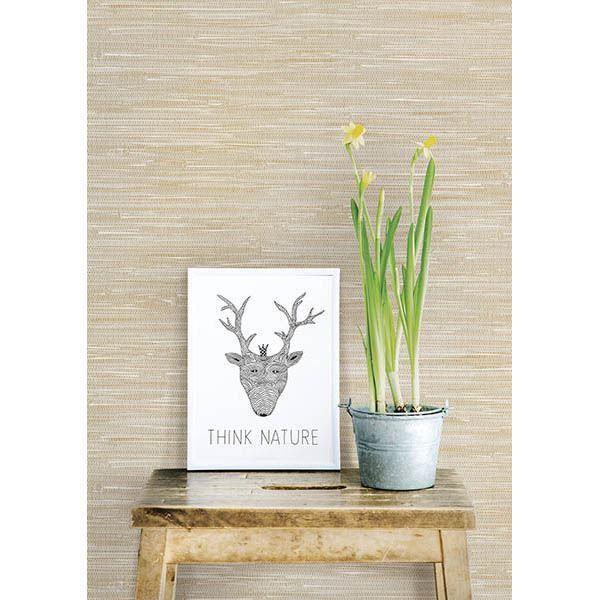 Natalie Beige Faux Grasscloth Grasscloth Wallpaper Peel And Stick Wallpaper Grasscloth
