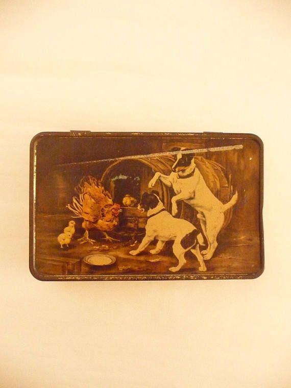 Vintage Tin Box MacRobertson's Tin Terrier Lithograph The
