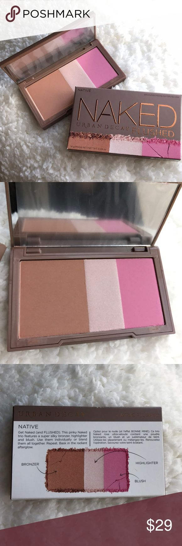 Urban Decay Naked Flushed Palette - Native Brand new in box! Never searched or used! Mirror still has protective plastic. Urban Decay Makeup Bronzer