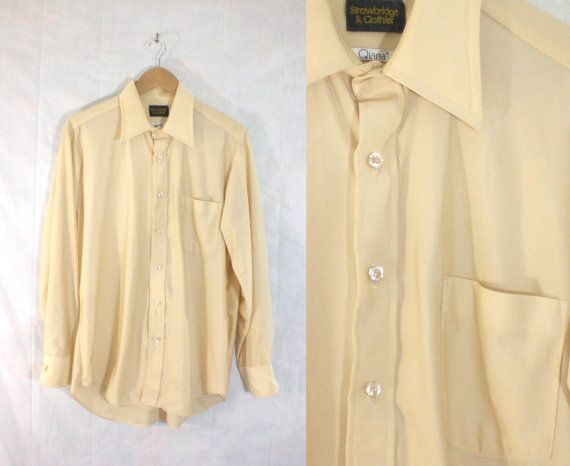 123.63 kr. 50%OFF March25-27 60 shirt mens button down shirt by LondonVtg