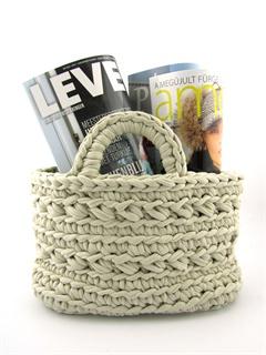 Hoooked tijdschriftenmandje - free crochet pattern