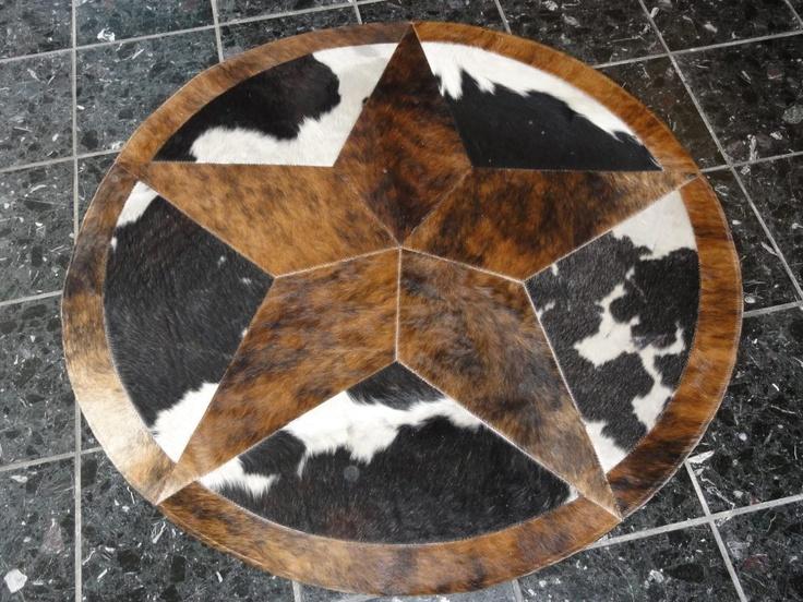 Cowhide Star Rug