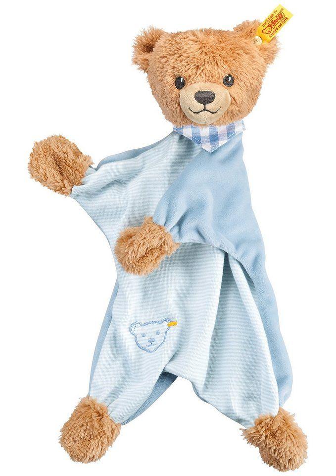Steiff Schmusetuch, »Schlaf-gut-Bär Schmusetuch« für 31,99€. Schlaf-gut-Bär Schnuffeltuch, Ab Geburt, Größe: ca. 30 cm, Aus Plüsch für babysanfte Haut bei OTTO