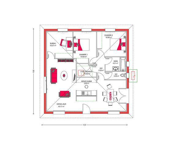Les 10 meilleures images du tableau maisons sur Pinterest - Cout Annexe Construction Maison