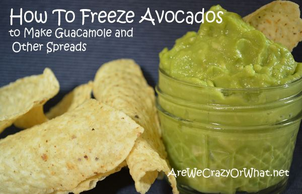 How to Freeze Avocados to Make Guacamole and Other Spreads