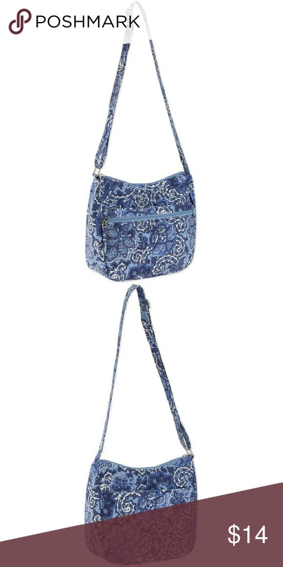 Brand New Waverly Blue Inspiration Handbag New MADE IN USA Everyday bag and this Waverly Women's Hobo Quilt Bag is exactly what you need. The main compartment is large enough to store all of the things you need to get through your day and then some.  100% cotton All-over Waverly pattern Quilted design Large adjustable handle Three outer pockets Three inner pockets Pull-tab zipper Similar to a Vera Bradley Dimensions (L x W x H):	11.00 x 4.00 x 11.00in Machine wash cold, gentle cycle, use…