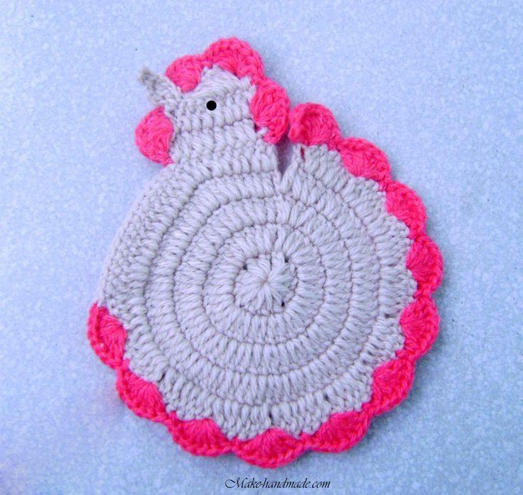 Easter Pot Holders Crochet: Hen Crochet Free Pattern