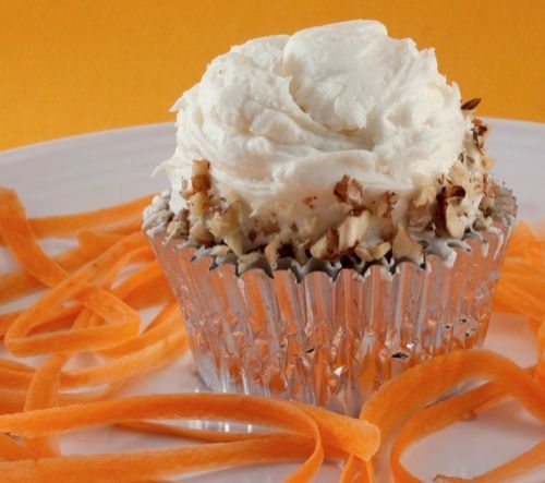 Whole Wheat, Fat-Free Vegan Carrot Cake Cupcakes Recipe | Happy Herbivore #vegan #RoshHashanah #recipe