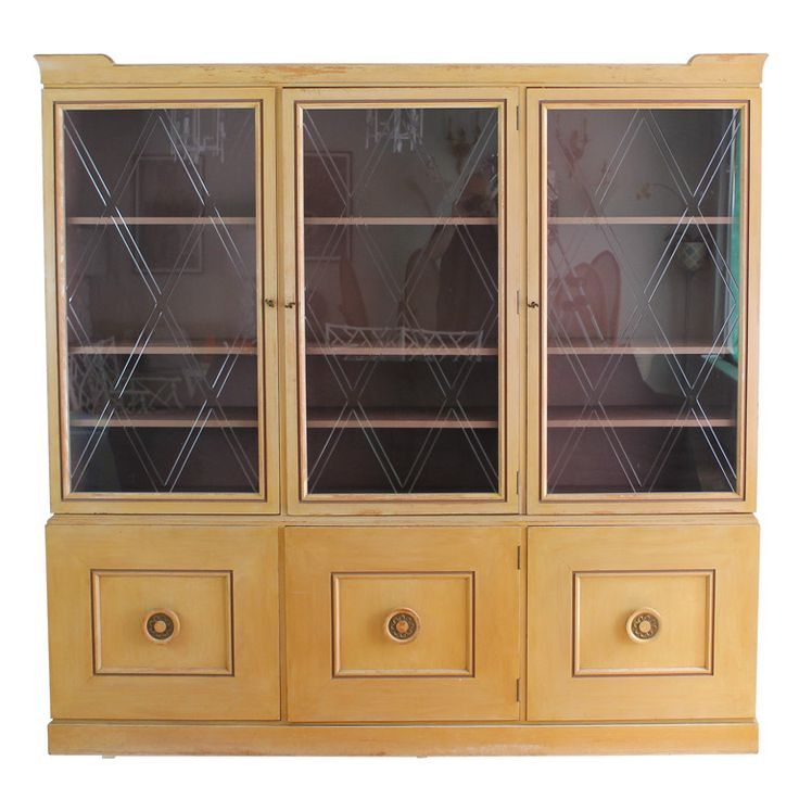 Tommi Parzinger for Charak breakfront china cabinet