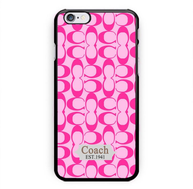 NEW Coach Fashion Pink Pattern For iPhone 6/6s Print On Hard Plastic Case Cover #UnbrandedGeneric