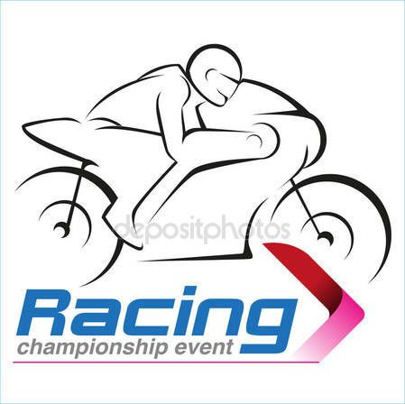 Download - Vector Motorcycle Racing Championship Symbol — Stock Illustration #183956932