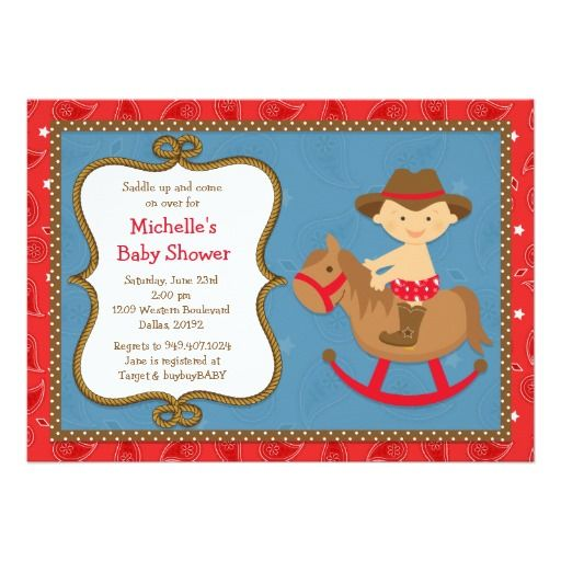 318 best images about cowboy baby shower invitations on pinterest, Baby shower invitations