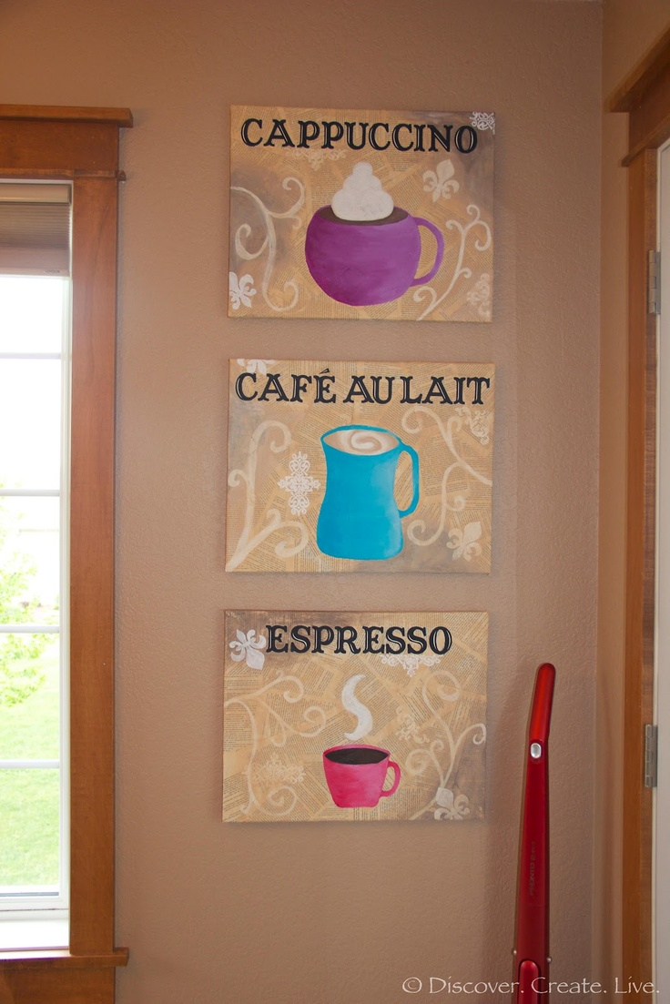 Discover. Create. Live.: DIY Canvas Coffee Art Part 9