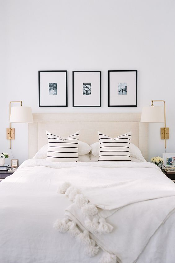 Come decorare la parete del letto con le foto | bedroom