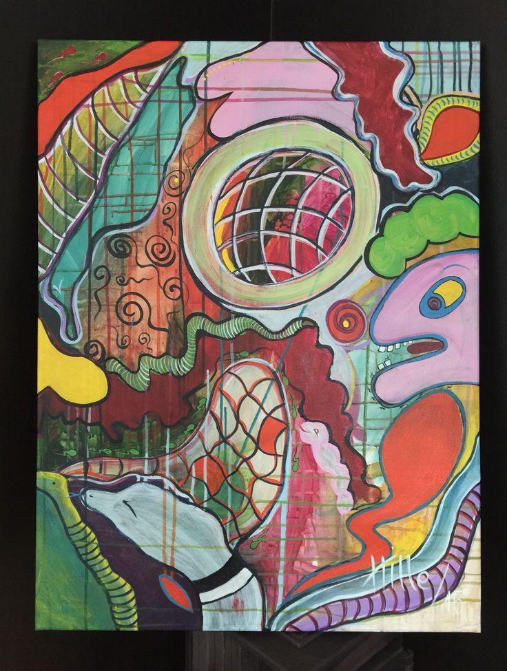 """One chance"" 60x80 cm Acryllic on canvas"