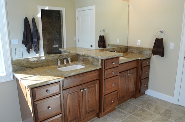 Master Bath Suite His And Her Vanity Top With Raised