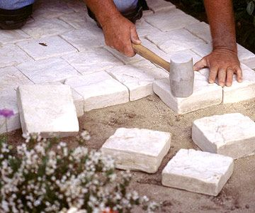 Good instructions for a DIY paver walkway (from driveway)