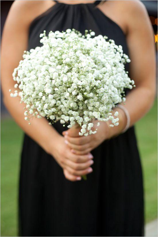 simple babys breath wedding bouquet / http://www.deerpearlflowers.com/rustic-budget-friendly-gypsophila-babys-breath-wedding-ideas/2/
