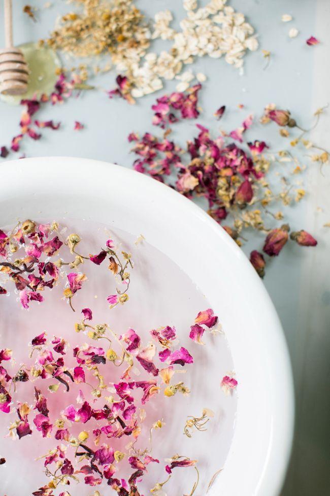 DIY: rose chamomile steam