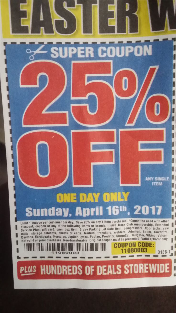 Harbor Freight 25 percent off coupon Gift coupons