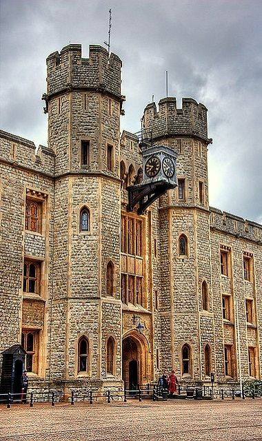 The Jewel House in the Tower of London, England.