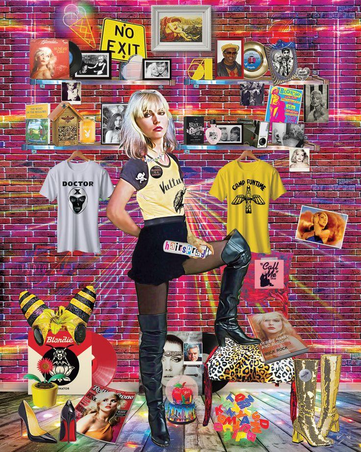 """Rock Bird"" #debbieharry #blondie #popart #digitalart #art #fanart #bobbywoods"